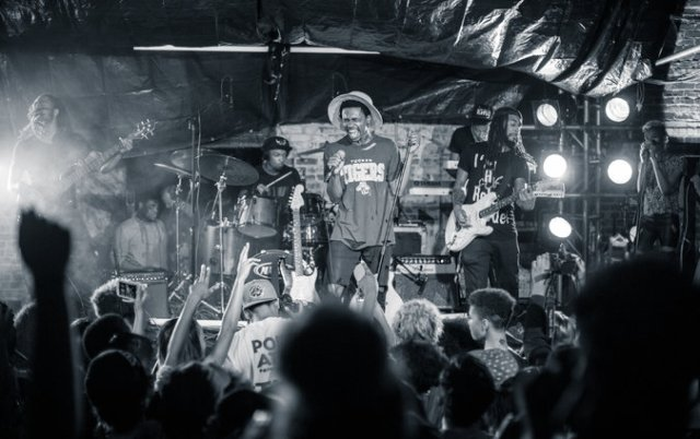 "Raury, performing in June in Atlanta on his 18th birthday, his first proper headlining performance. He called it Raurfest. Raury's debut album, ""Indigo Child,"" will be released on Monday. (Troy Stains for The New York Times)"