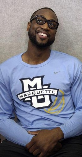 Marquette alumnus and NBA superstar Dwyane Wade