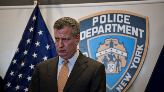New York Mayor Bill de Blasio Calls for NYPD reforms