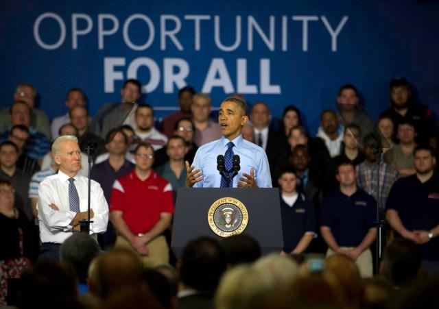 Obama And Biden Discuss Job Skills Training In Pennsylvania