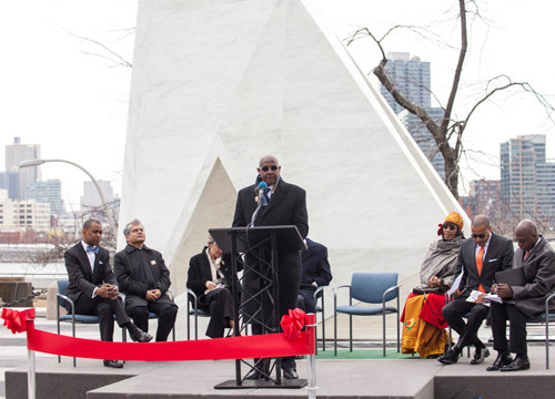 Unveiling of United Nations Slavery Memorial (Photo: UN.com)