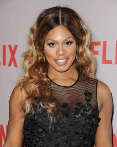 "LOS ANGELES, CA - MAY 20:  Actress Laverne Cox attends Netflix's ""Orange Is The New Black"" For Your Consideration screening and Q&A at Directors Guild Of America on May 20, 2015 in Los Angeles, California.  (Photo by Jason LaVeris/FilmMagic)"