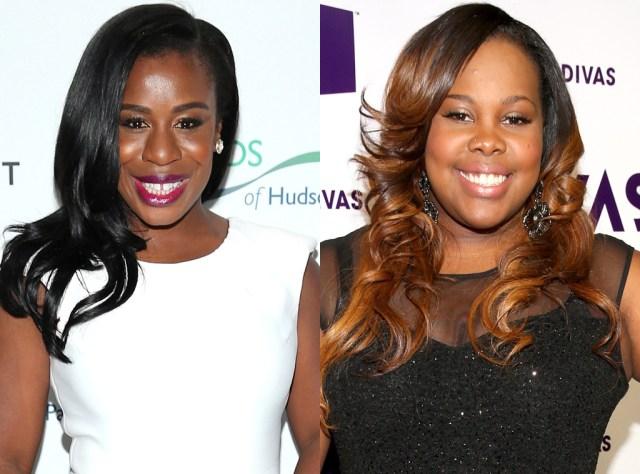 "Uzo Aduba (l) and Amber Riley (r) join the cast of NBC's ""The Wiz"" (Photo via eonline.com)"