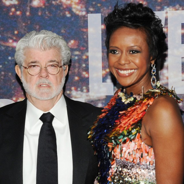 George Lucas and wife Mellody Hobson (photo via vulture.com)