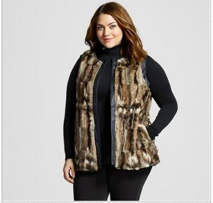 Women's Plus Size Faux Leather Sweater Jacket - U-Knit