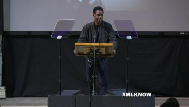 Chris Rock speaks at #MLKNow event (photo via lifestream.com)