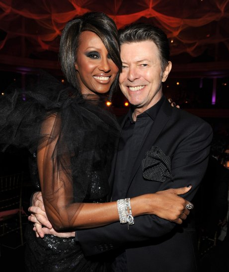David Bowie with Supermodel wife Iman (photo via popsugar.com)