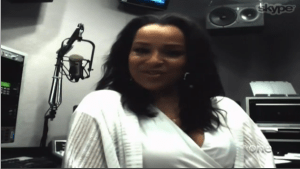 "LisaRaye McCoy talks about ""Skinned"" on NewsOne Now (photo via newsone.com)"