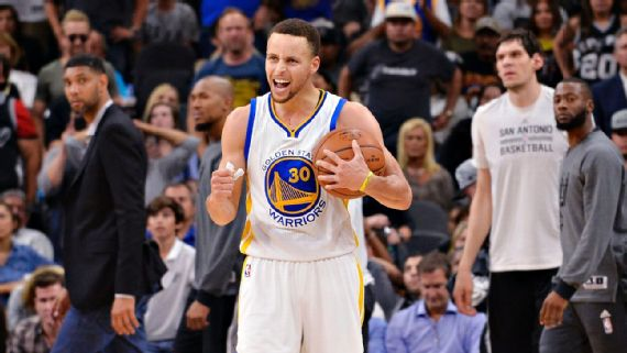 Stephen Curry becomes the 13th player in NBA history to win multiple MVP awards and the third point guard to do so, joining Magic Johnson and Steve Nash. (AP Photo/Darren Abate)