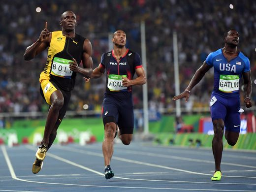 Jamaica's Usain Bolt Wins 3rd Consecutive 100M Olympic ...