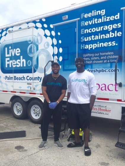 Carlos Miller and Chris Bentley, founders of Live FRESH Palm Beach County. (photo via palmbeachpost.com)