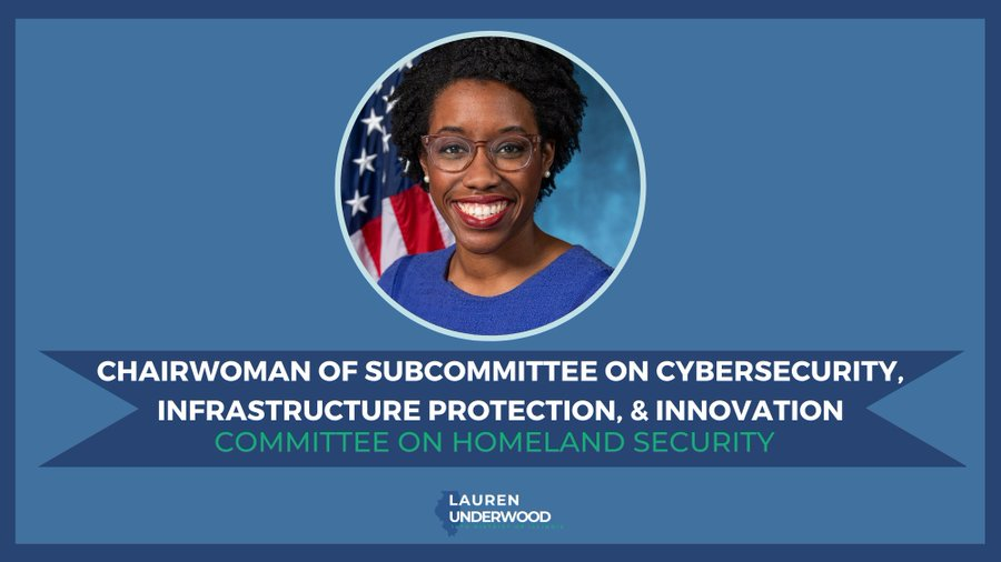 Rep. Lauren Underwood Takes Over as Chair of House Cybersecurity Panel