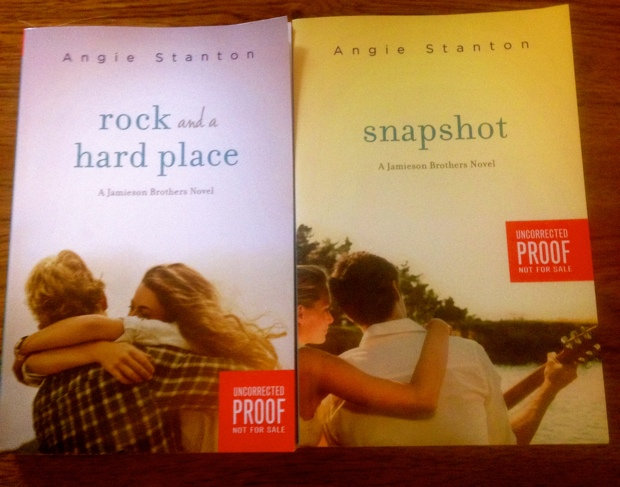 Rock And A Hard Place and Snapshot Angie Stanton books