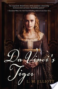 Da Vinci's Tiger by L.M. Elliott | Recommended Young Adult Historical Fiction for readers interested in the Renaissance and strong female characters.