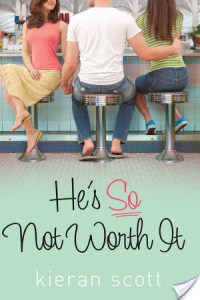 He's So Not Worth It by Kieran Scott is a fantastic travel book, in that you can read it and are absorbed by the story, and then leave it behind in whatever hotel you are staying in.