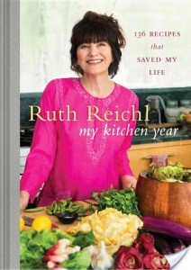 My Kitchen Year: 136 Recipes That Saved My Life by Ruth Reichl is about when Reichl was let go by Gourmet magazine and how she overcomes adversity.
