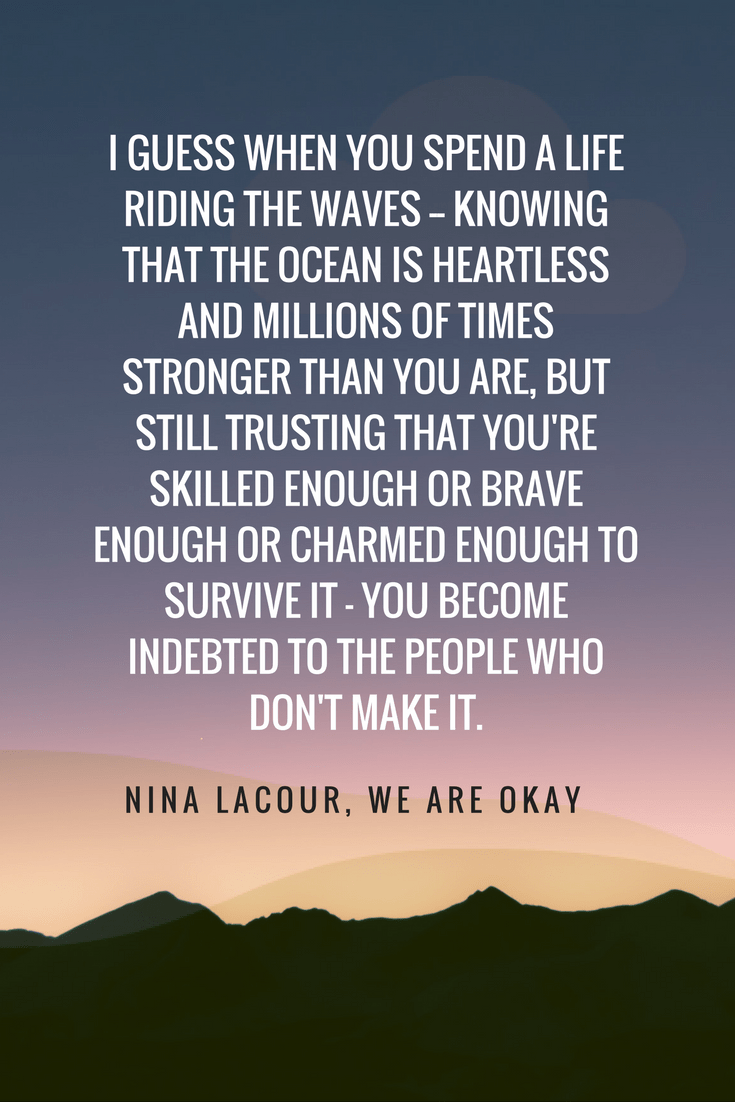 We Are Okay by Nina LaCour quote