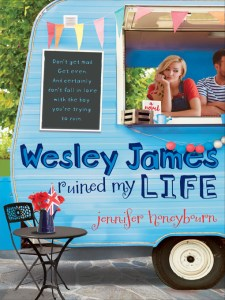 Wesley James Ruined My Life is about this girl named Quinn who works at the Renaissance themed restaurant. It's a light and quick YA contemporary read.