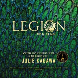 Legion by Julie Kagawa is the fourth book in her Talon series -- which is her series of dragon books. Click here to see what I thought.