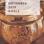 A list of September 2019 goals to get in the mood for Autumn - by decorating, sorting pictures, reading books, and doing a puzzle.