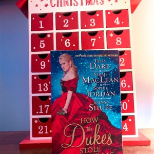 How The Dukes Stole Christmas by Tessa Dare, Sarah MacLean, Sophie Jordan, and Joanna Shupe contains four novella sized stories set during the holidays.