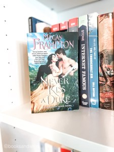 Never Kiss A Duke by Megan Frampton is the first of the Hazards of Duke series. It is an okay audiobook but not one I was invested in.
