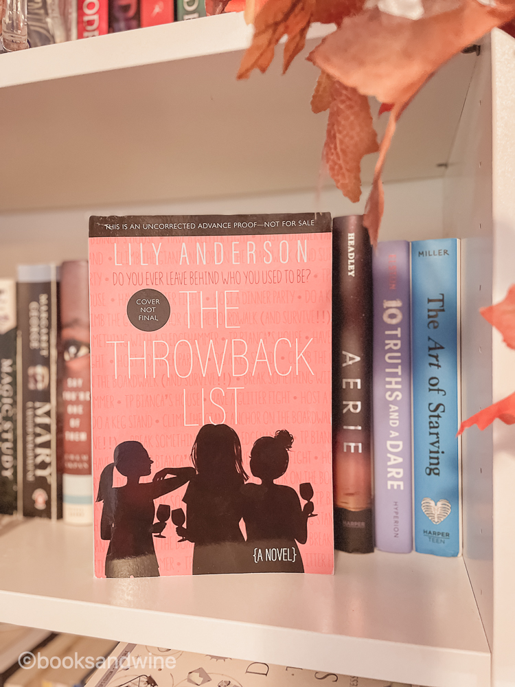 The Throwback List by Lily Anderson   Book Review
