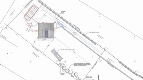Plan masse permis de construire maison passive
