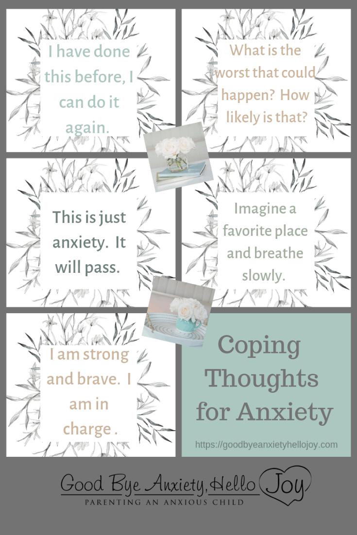 Free Child Anxiety Printables | Good Bye Anxiety, Hello Joy