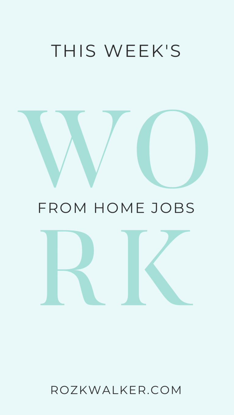 Earn Money From Home with This Week's WAH Jobs