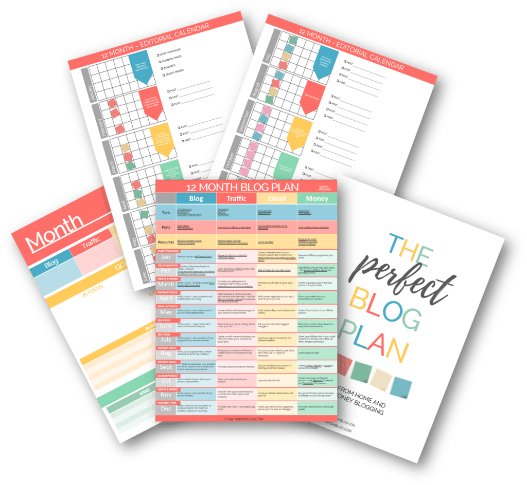 How to start a mom blog - The Perfect Blog Plan pages
