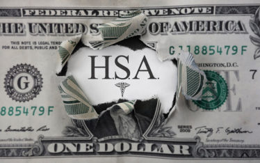 dollar bill with HSA