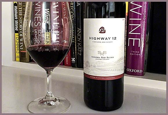 Highway 12 Sonoma Red Blend 2015