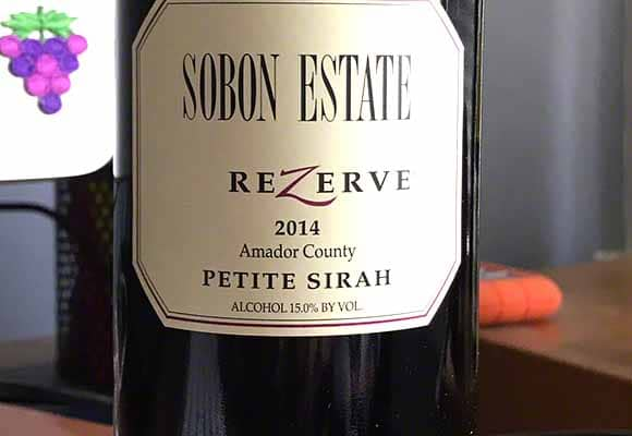 Sobon Estate ReZerve Petite Sirah