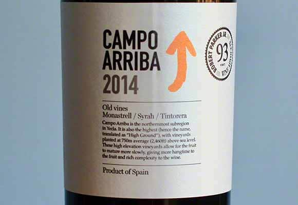 2014 Campo Arriba earns 93 Points from RP