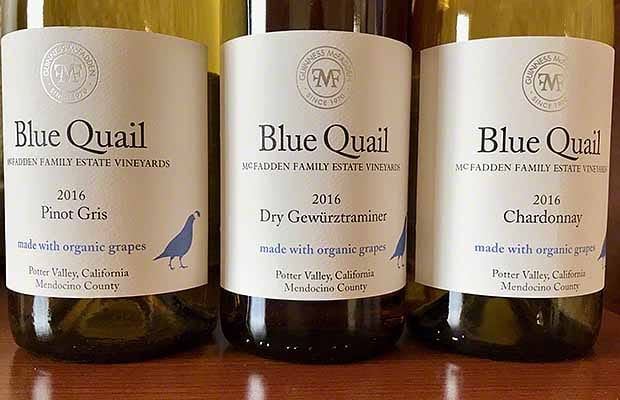 Blue Quail wines