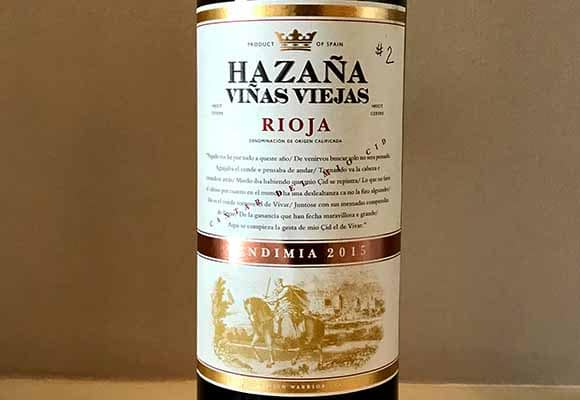 Hazaña Rioja wine