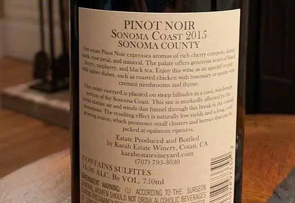 Karah Pinot Noir 2015