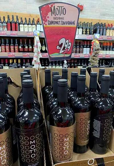 Motto backbone cabernet at Trader Joes for $2.99