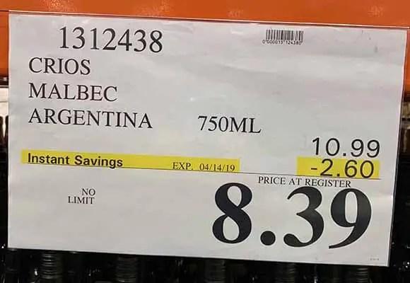 Crios Malbec a Best Buy wine