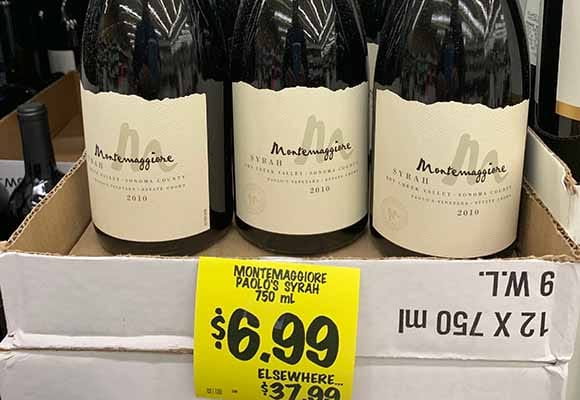 Grocery Outlet wine sale