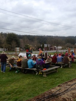 Pacific Northwesterners are good at picnicking even when it's a little dreary out!