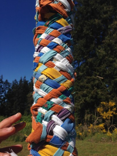 The finished weave of the May Pole!