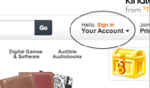 Amazon Your Account Button