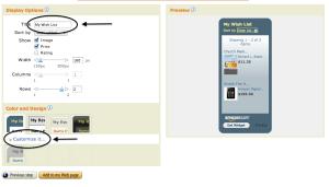 Customizing Widget