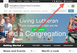 ELCA Find a Congregation Tool