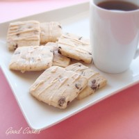 Chocolate Chip Shortbread with Earl - Grey Infused Glaze