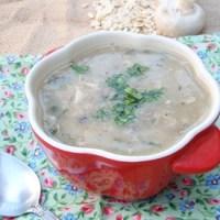 Mushroom Oat Soup