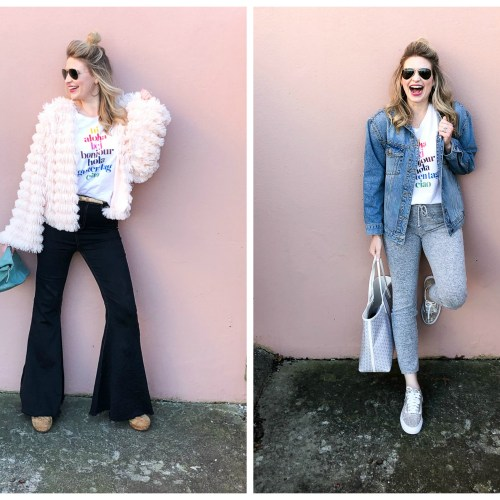 graphic tee styled 2 ways