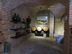 Part of the historic wine operation at the abbey.